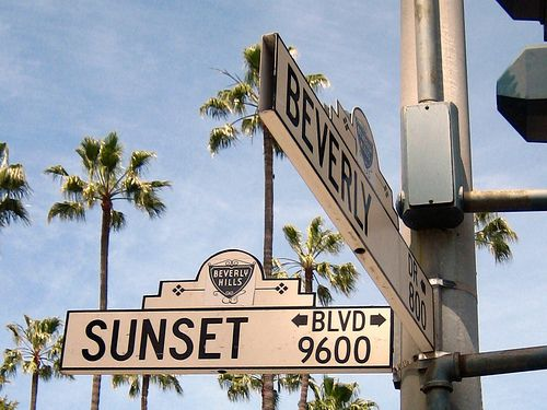 The ever so famous Sunset Blvd