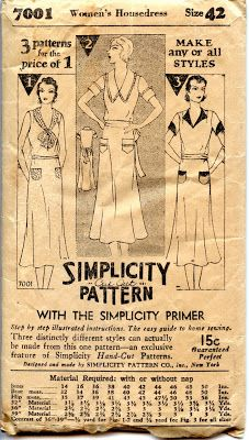 Unsung Sewing Patterns: Simplicity 7001 - Women's Housedress
