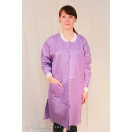 ExtraSafe 3 Layer Disposable Lab Coats- Purple, 45 gram - Disposable Lab Coats - Disposable Clothing | CriticalTool.com