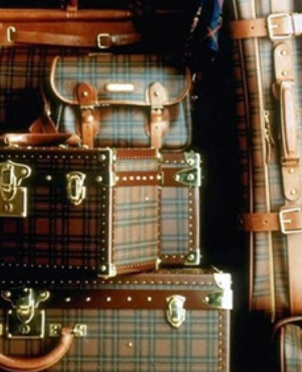 BeautifulOld Trunks, Ralph Lauren, Tartan Plaid, Have A Nice Trip, Murmuration Cottages, Luggage, Tartanplaid, Travel, Suitcas