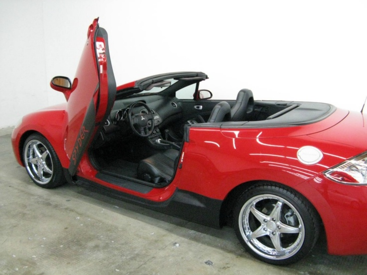 2007 mitsubishi eclipse gs spyder convertible 2d with custom lambo doors in the garage pinterest mitsubishi eclipse convertible and custom cars
