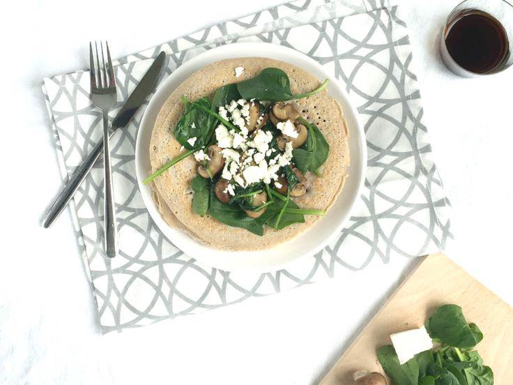De boekweit amandelmeel pannenkoeken zijn een gezond alternatief voor de zoete pannenkoek.