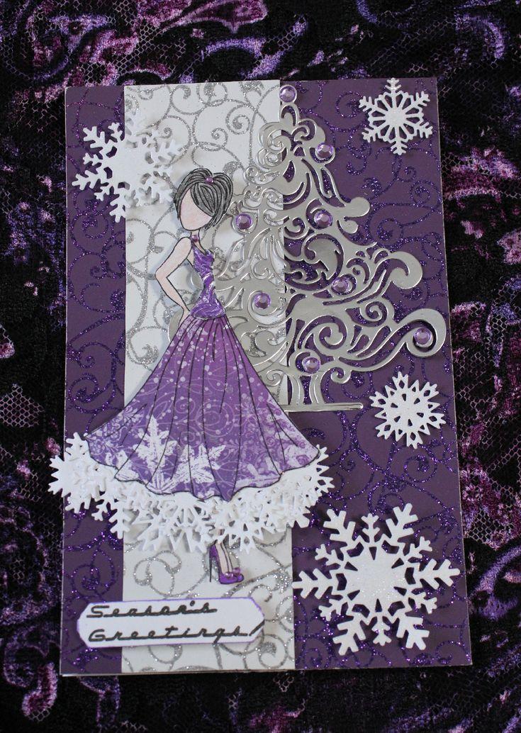 Purple Pleasure Christmas Card - Scrapbook.com