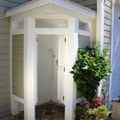 239 best pool images on pinterest outdoor showers for Outdoor pool bathroom ideas