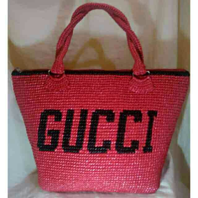 gucci inspired twine crochet bag