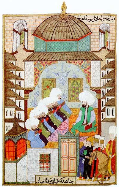 İstanbul-A class at the Gazanfer Aga Madrasa founded in 1566 - Divan-i Nadiri - Caferağa Medresesi