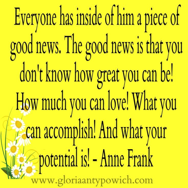 Good News! Some encouragement for your day. :)