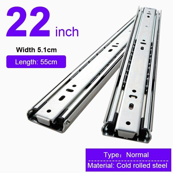 Heavy Duty 68kg Drawer Slide Rail 51mm Full Extension Ball Bearing Industrial 22 Inch 550mm 036 77 35 Ndash 036 91 In 2020 Drawer Slides Heavy Duty Drawers
