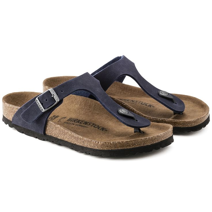 Vegan Birkenstock | Gizeh Navy Microfiber | vegan shoes | vegan sandals