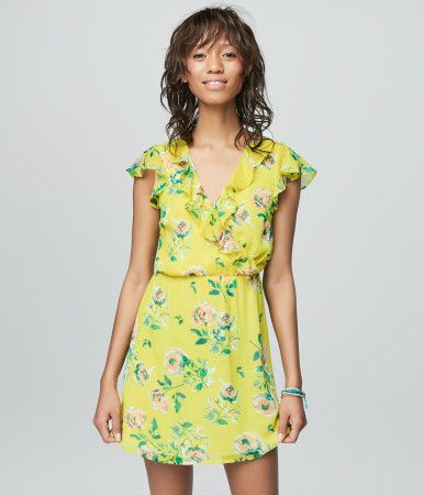 """From date nights to parties galore, you'll really dazzle in this fully lined Prince & Fox Ruffled Floral Dress. Feminine ruffles and a bright floral pattern on ultralight fabric combine to make it perfect for every warm weather soirée.<br><br>Relaxed fit. Approx. length: 33.5""""<br>Style: 2834. Imported.<br><br>Body: 100% polyester.<br>Lining: 100% rayon.<br>Machine wash/dry.<br><br>Model height: 5'10&am..."""