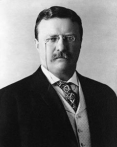 Presidential portrait photo of Theodore Teddy Roosevelt, the 26th President of the United States. Roosevelt served as president from 1901 to 1909.