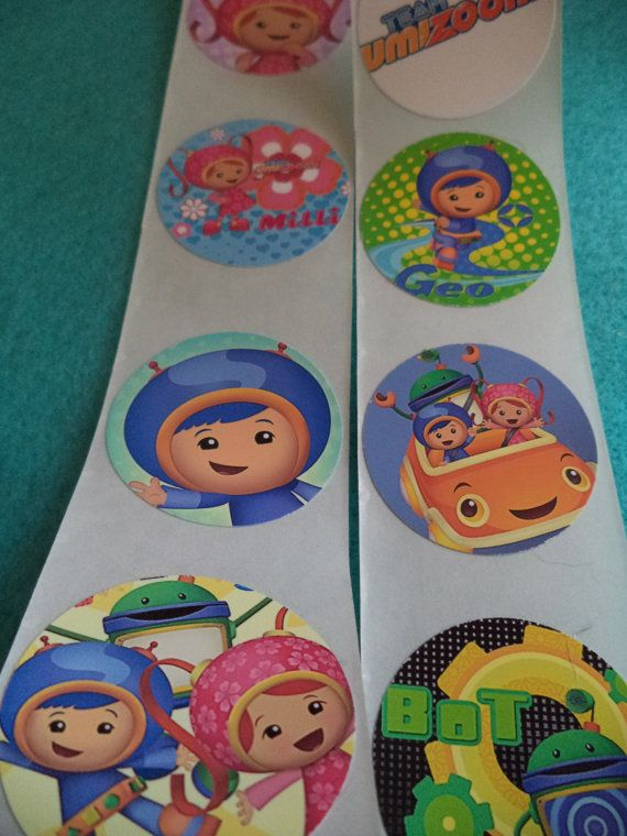 TEAM UMIZOOMI Birthday Party 1.5 inch stickers  Perfect by dan2227