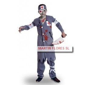 Disfraz enfermero sangriento en #halloween tienda online Sevilla de disfraces, pelucas, complementos, maquillaje