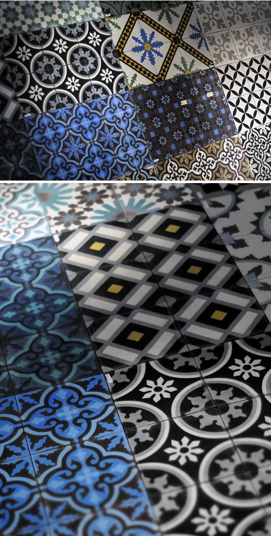 .Cement encaustic tiles: So may designs! So many colors! at ARCHARIUM tile & stone
