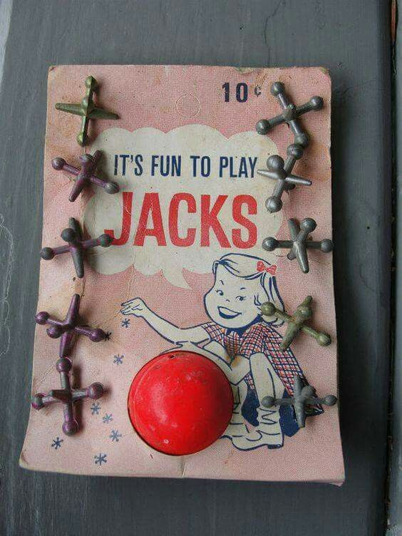 Vintage childhood games. And have you ever stepped on one of these barefooted ? !!
