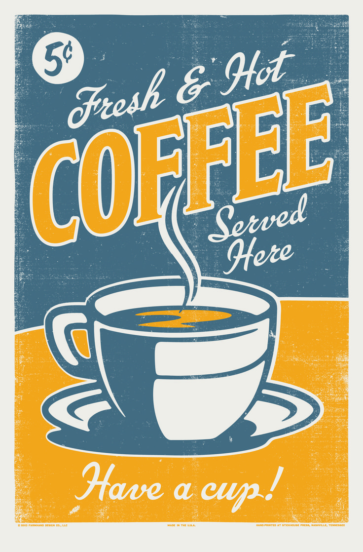 Coffee Posters Retro ~ A vintage coffee poster posterized pinterest