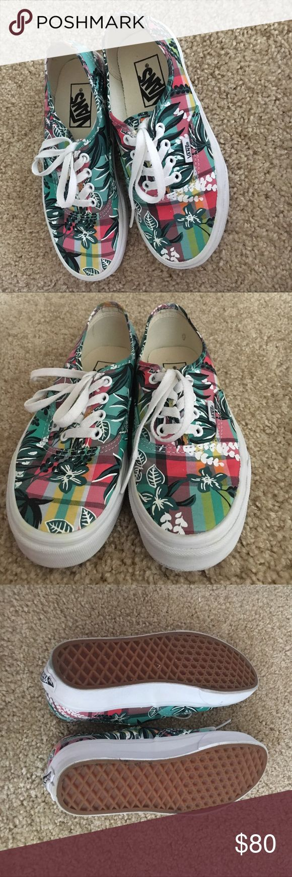 Tropical Vans Limited Edition INCREDIBLY LIGHTLY USED, phenomenal condition, basically brand new, cute tropical pattern, may keep Vans Shoes Sneakers
