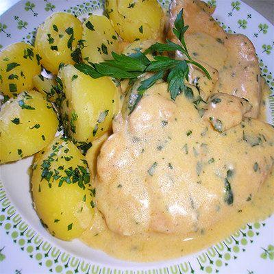 Tejszínes-fokhagymás csirke