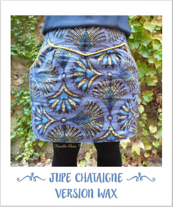 Jupe Chataigne - Wax - zottelabougeotte.canalblog.com