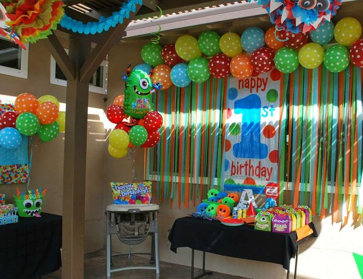 Monsters Birthday Party Ideas   Photo 2 of 28   Catch My Party