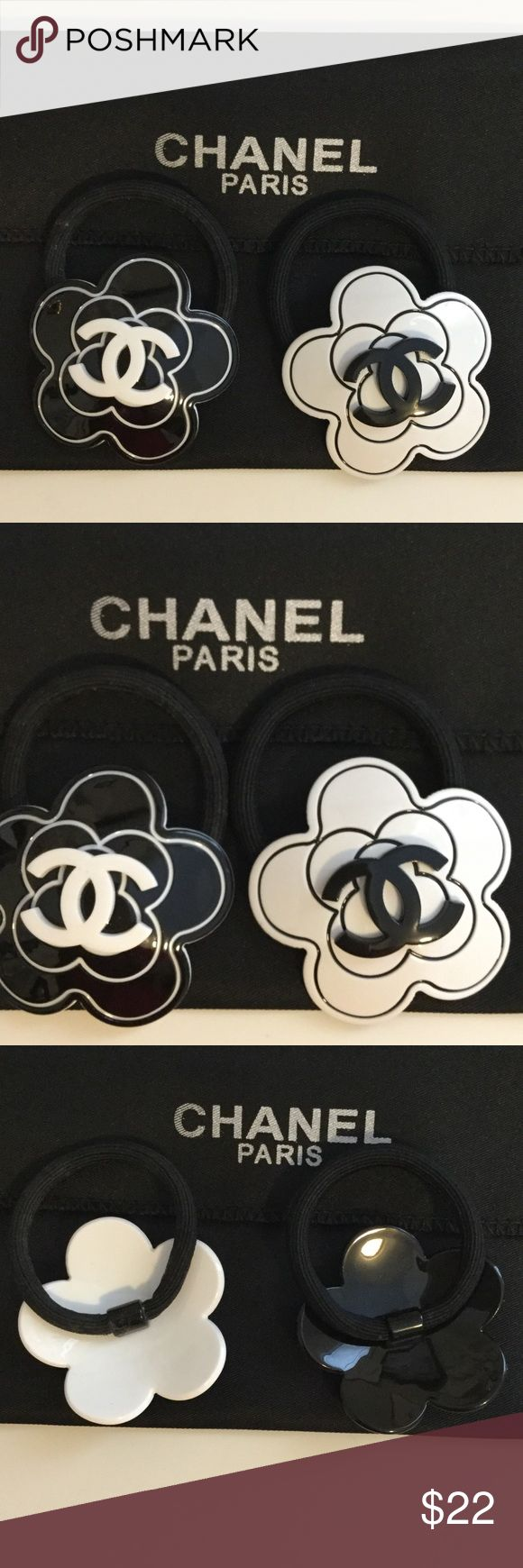 Chanel Hair Ties Price is for one! Black or White. 2 x 2 inches. CHANEL Makeup Brushes & Tools