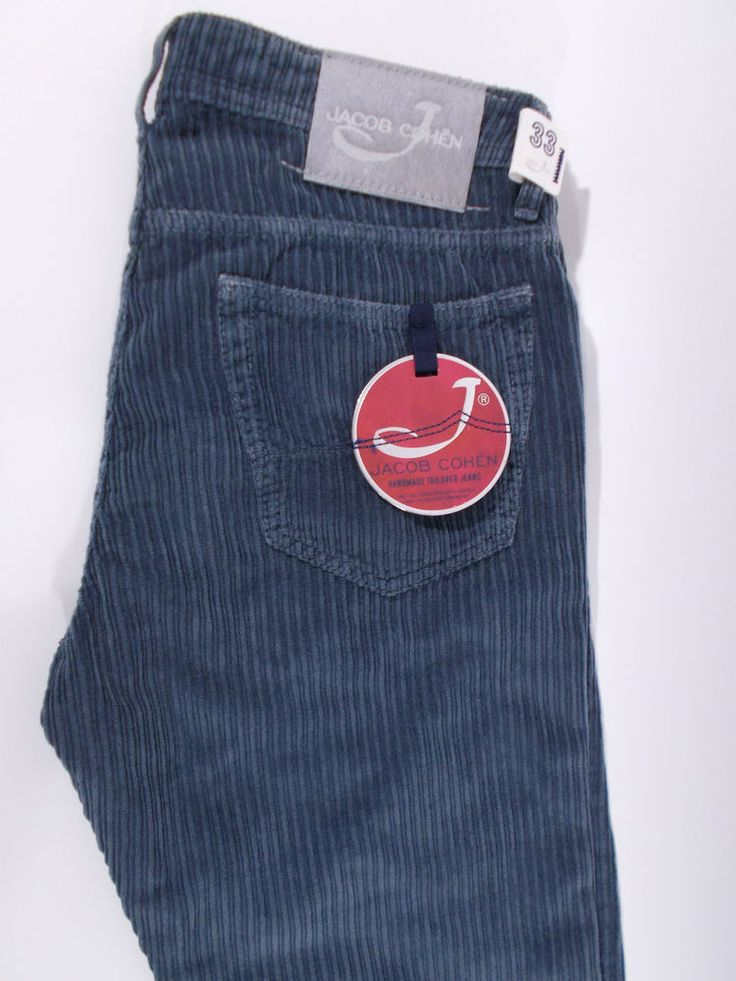 NWT JACOB COHEN J688 vintage 5 tasche pantalone uomo VELLUTO A/I tg. 32