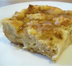 Weight Watchers Recipes - French Toast Casserole- made with eggbeaters, almond milk, and brummel butter-- 4 servings at 4 points plus