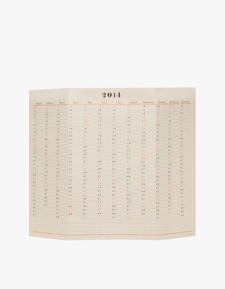 postal co. / one year wall calendar