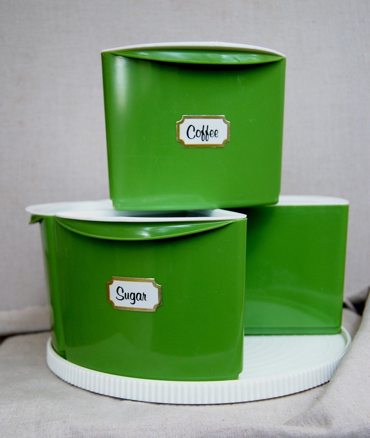 green canisters kitchen 10 best vintage retro images on avocado 11953