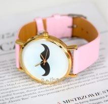 www.sajbazar.com  moustache pink watch