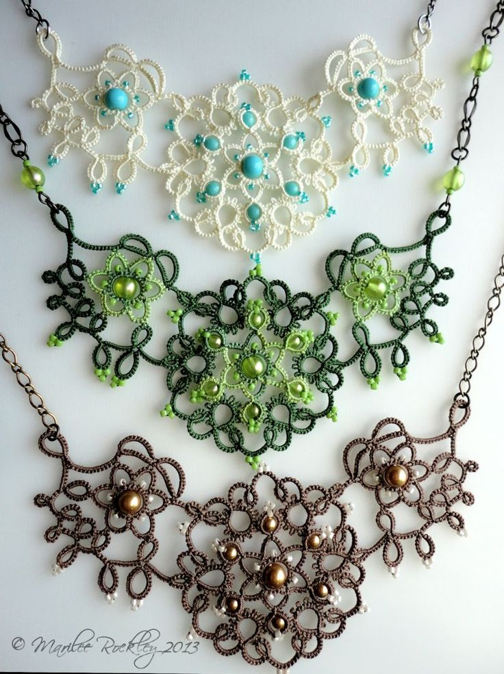 Nouveau Set  original tatting pattern is all done! It's for sale at my Etsy Shop  and also in my Craftsy Pattern Store.   The curving, ...