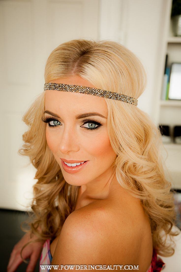 Boudoir makeup, wedding makeup,headband, 1920's, vintage makeup, vintage hair