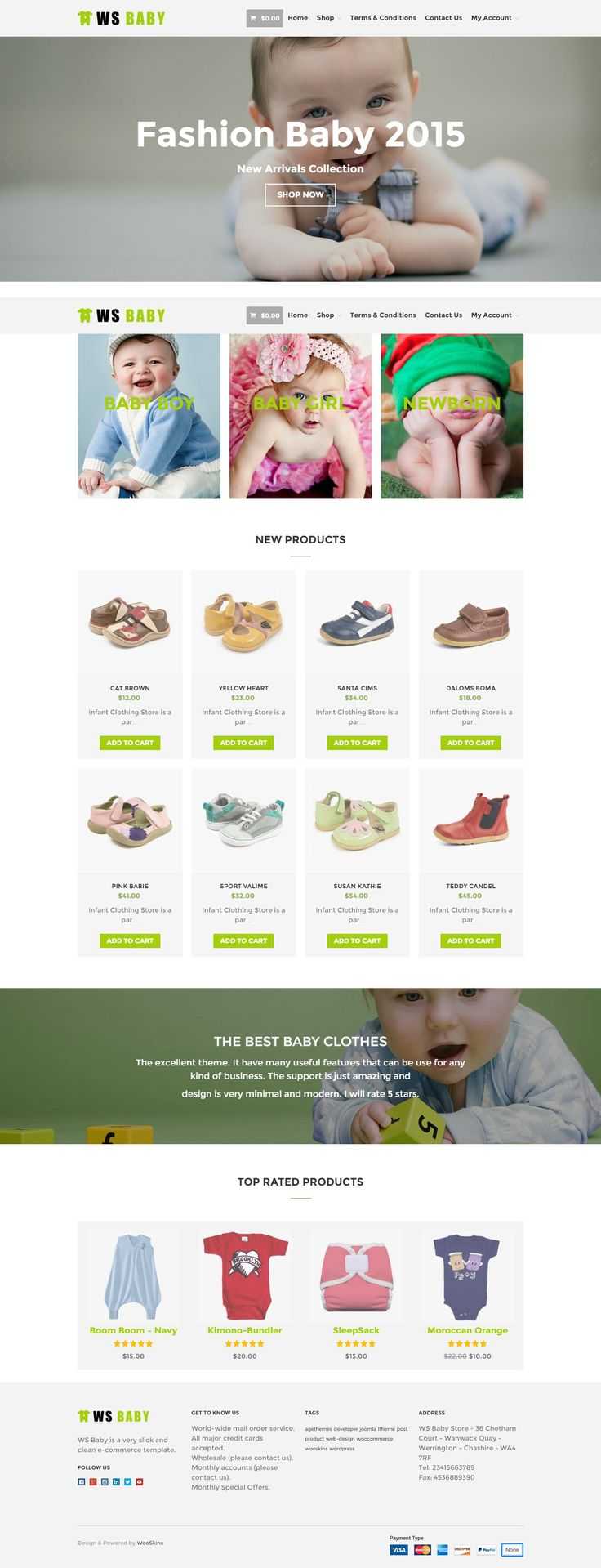 WS Baby is Free WooCommerce WordPress theme tailored for kids or baby store websites. The theme comes with a clean and lovely design using soft-colors, which makes it suitable for setting up any child-related store #website. This is beautiful template to showcase the #babystores, provide detailed information about its styles and prices.
