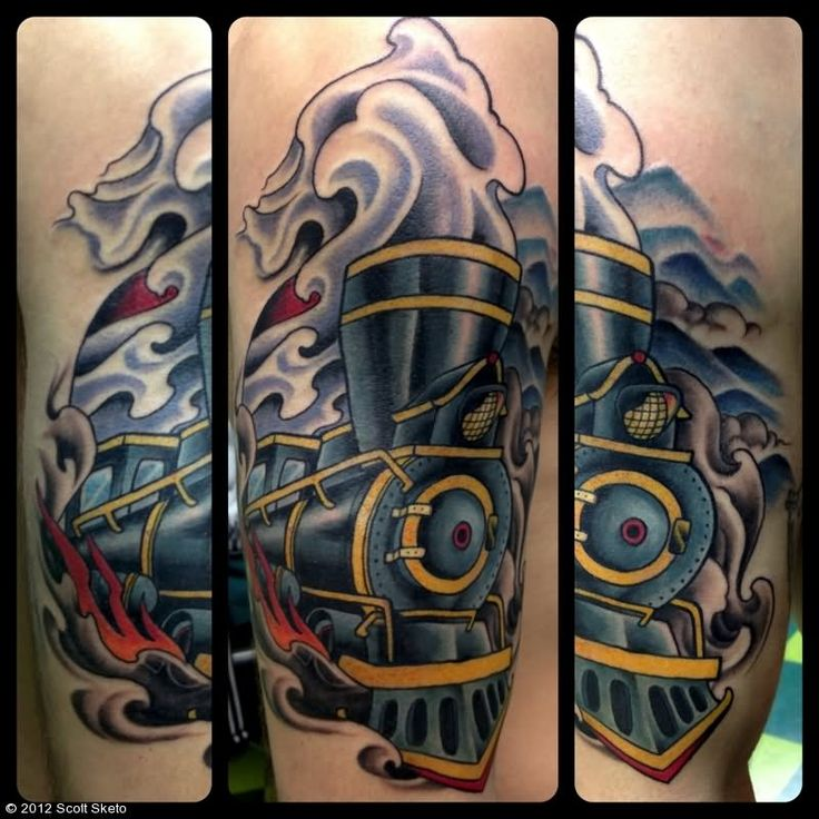 25 best ideas about engine tattoo on pinterest piston for Crazy train tattoos