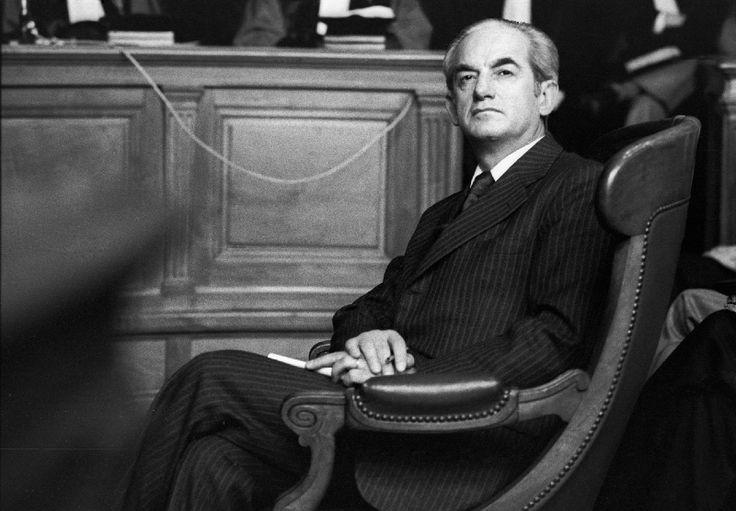 Alain Peyrfitte, ancien Ministre de la justice. 1984. © Franck Pédersol