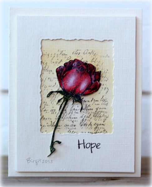 ♥♥♥ this beautiful rose card. so gorgeous!