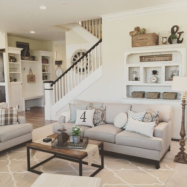 Who Needs A Fun, Inexpensive Option To Update Your Space For Summer? I Am ·  Rustic FarmhouseFarmhouse StyleNeutral Living RoomsLiving ...
