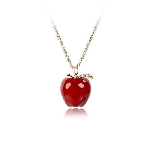 apple jewelry. red jewelry accessories   apple korean resin pendant necklaces wholesale . pinterest
