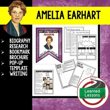 how to write a brochure on amelia earhart