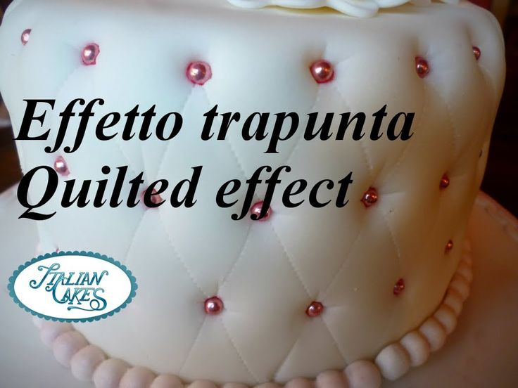 Torta decorata effetto trapuntato (Quilted effect cake) by ItalianCakes