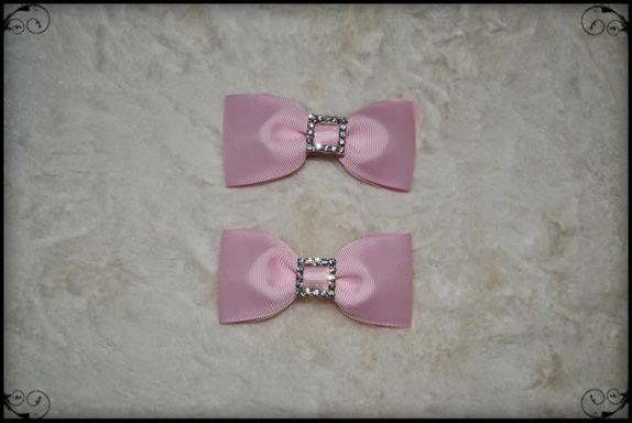 Nr.163 <3 Lekker rosa hårklemme med sløyfe <3