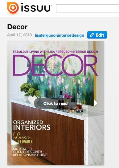 Decor Mentor will create custom professional digital and print magazine files for designers, decorators and architects with hi res images. Can be uploaded to issuu and embedded on your own site. http://issuu.com/lisafergusoninteriordesign/docs/dm13-003_print_magazine-singles http://shop.decormentor.com