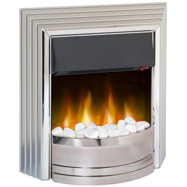 Dimplex Castillo Electric Fire ($200) ❤ liked on Polyvore featuring home, home decor, fireplace accessories, white home decor, dimplex, home wall decor and electric fireplace accessories