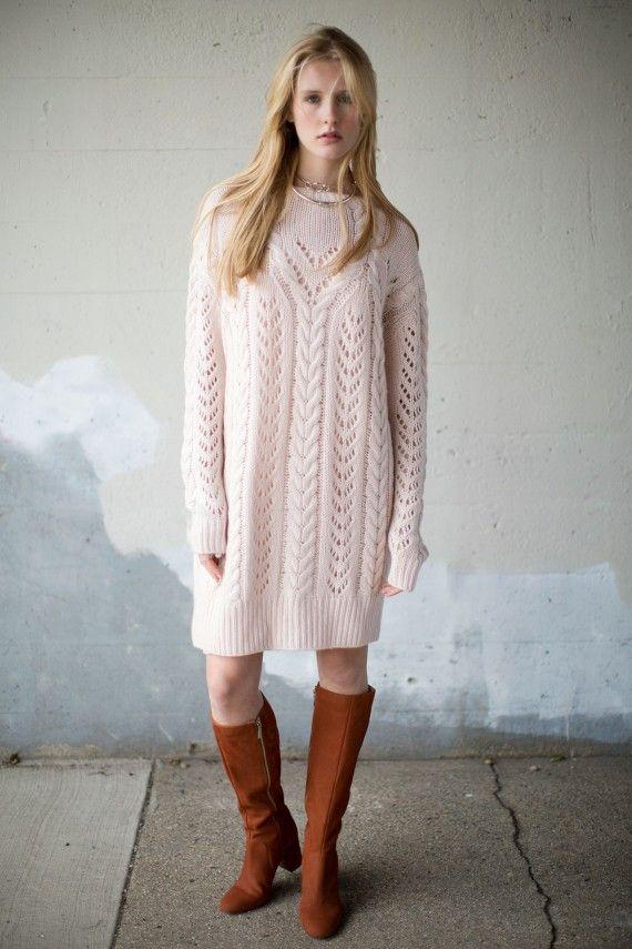Ryan Roche - Pale Apricot Handknit Sweater   BONA DRAG