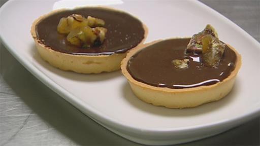 Chocolate Salted Caramel Tart and Caramelised Peanuts - Recipe by Vincent Gadan - Masterchef Australia