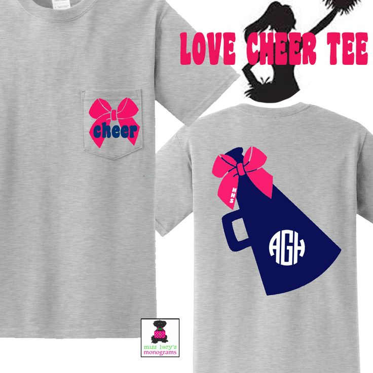 Monogrammed & Exclusive - LOVE CHEER Tee Shirt - special pricing for your CHEERLEADING SQUAD!!  Miss Lucy's Monograms