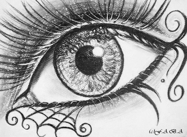 Gothic Drawings | Gothic eye ll by kaldengel on deviantART