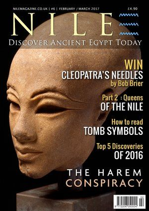 Satisfy your passion for ancient Egypt. NILE MagazineFeb-Mar 2017 is out now.Inside: - The Top 5 discoveries of 2016. - The harem conspiracy against Ramesses III. - Cleopatra's Needles, Part 1: The London obelisk. - Win a signed copy of Bob Brier's new book. - Tomb symbolism and how to read it. - Queens of the Nile, Part 2: The powerful New Kingdom queens. - On This Day in history - Plus much more. Click on the cover to subscribe.