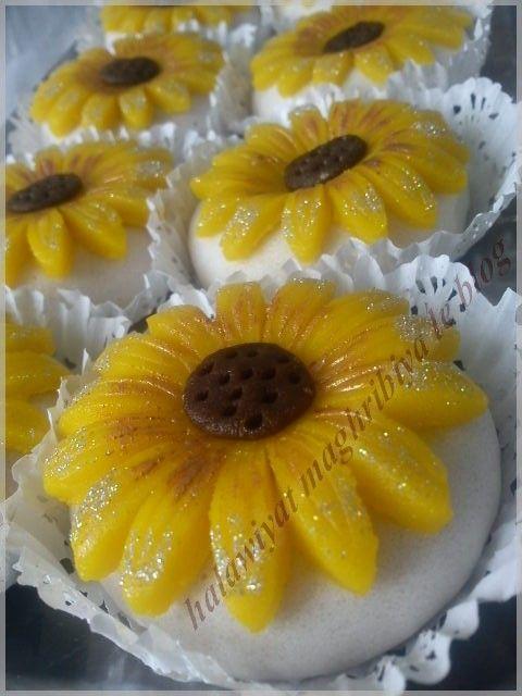 tournesols (ou kaikaâtes au flan) - Halawiyat Maghribiya