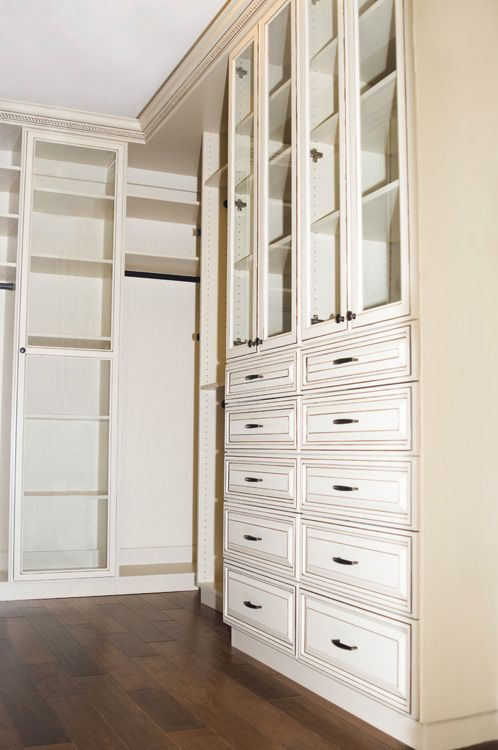 Stunning Antique White Walk In Closet By Classy Closets. Visit Our Website  To Schedule